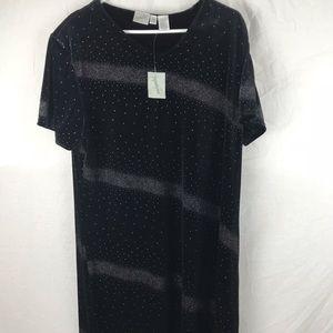 Jacqueline Ferrar Tunic Dress Sz 16W Midnight Blue
